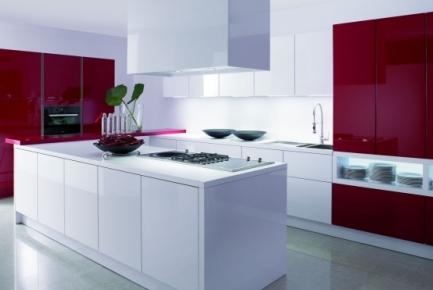 Cocinas rojas for Muebles de cocina argentina