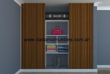 Frentes mas interior placard - Muebles Rosario, Placares Rosario, Vestidores Rosario, Muebles de Cocina Rosario